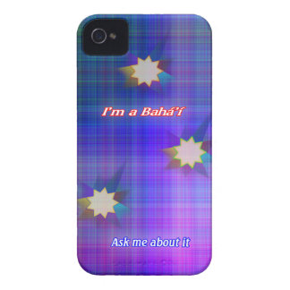 Soy una caja intrépida de la zarzamora de la tela carcasa para iPhone 4 de Case-Mate