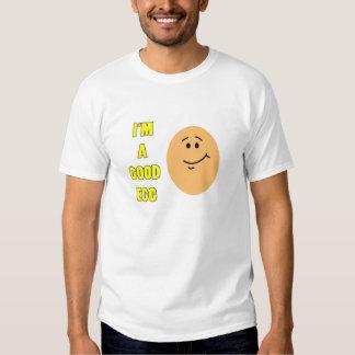Soy una camiseta divertida del buen huevo remera