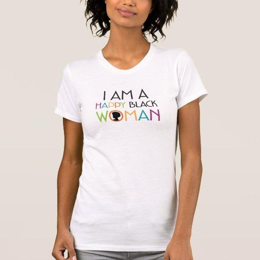 Soy una camiseta feliz de la mujer negra
