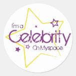 Soy una celebridad en myspace etiqueta redonda