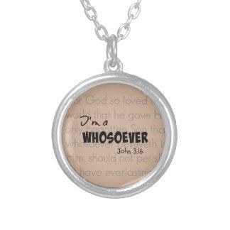 Soy una cita cristiana Juan 3,16 del whosoever Colgante Redondo