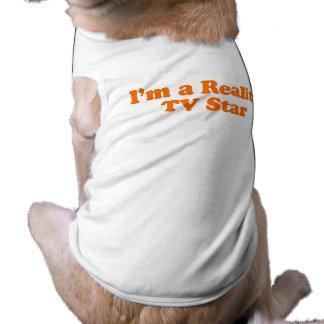 Soy UNA ESTRELLA de la REALIDAD TV Camiseta De Perro