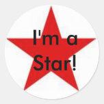¡Soy una estrella! Etiqueta Redonda
