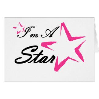 Soy una estrella tarjeta de felicitación