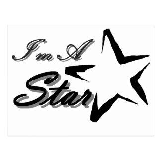 Soy una estrella tarjeta postal