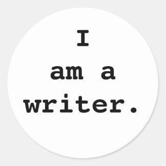 Soy una etiqueta engomada del escritor