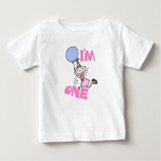 Soy una figura cumpleaños del palillo del chica tee shirts