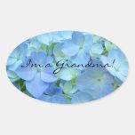 Soy una flor azul del Hydrangea de los sellos de Colcomanias Óval