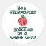 Soy una fresa… pegatinas redondas