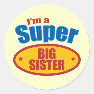 Soy una hermana grande estupenda pegatina redonda