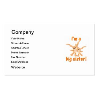 Soy una hermana grande (los conejitos anaranjados) tarjetas de visita