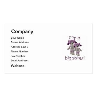 Soy una hermana grande (los perritos púrpuras) tarjetas de visita