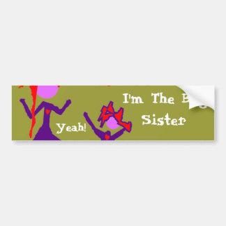 ¡Soy una hermana grande! Pegatina Para Auto
