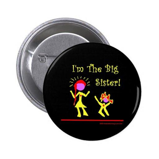 ¡Soy una hermana grande! Pin Redondo 5 Cm