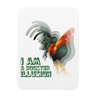 Soy una ilusión del gallo imán foto rectangular