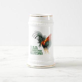 Soy una ilusión del gallo jarra de cerveza