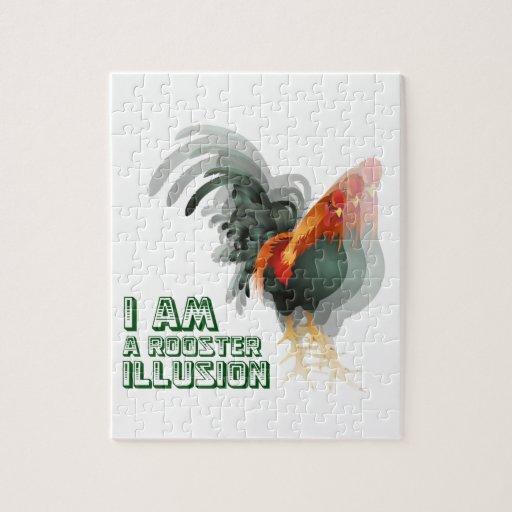 Soy una ilusión del gallo rompecabeza con fotos