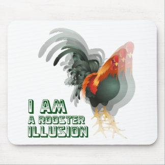 Soy una ilusión del gallo tapetes de raton