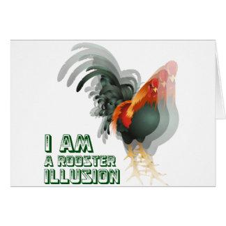 Soy una ilusión del gallo tarjeta de felicitación