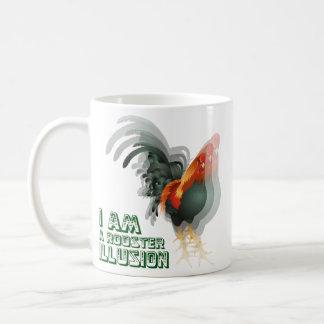 Soy una ilusión del gallo taza