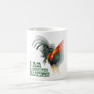 Soy una ilusión del gallo taza de café