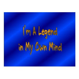 Soy una leyenda en mi propia mente postal