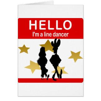 Soy una línea bailarín tarjeta de felicitación
