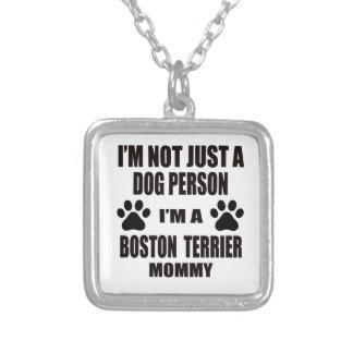 Soy una mamá de Boston Terrier Colgante Cuadrado