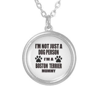 Soy una mamá de Boston Terrier Colgante Redondo