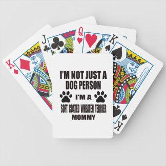 Soy una mamá de trigo revestida suave de Terrier Baraja Cartas De Poker