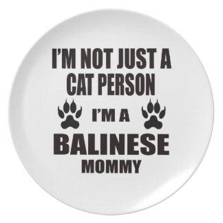 Soy una mamá del Balinese Plato