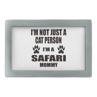 Soy una mamá del safari hebilla de cinturón rectangular