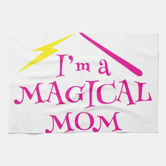 ¡Soy una mamá MÁGICA! con la vara del mago Toallas De Mano