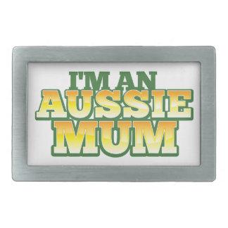 ¡Soy una MOMIA AUSTRALIANA! Hebilla De Cinturon Rectangular