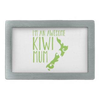 Soy una MOMIA impresionante Nueva Zelanda del KIWI Hebilla De Cinturon Rectangular