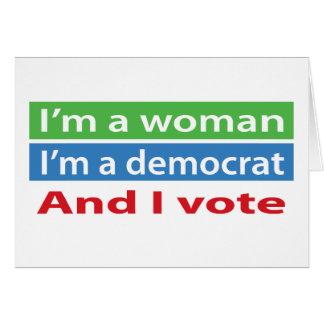 ¡Soy una mujer y voto! Tarjeta De Felicitación