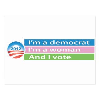 ¡Soy una mujer y voto! Tarjeta Postal