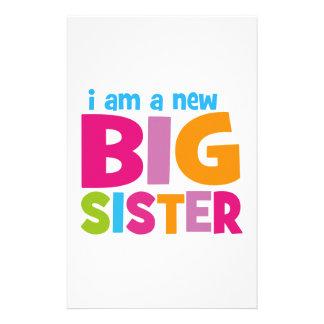 Soy una nueva hermana grande personalized stationery