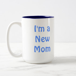 Soy una nueva mamá. Azul Taza De Dos Tonos