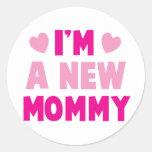 ¡Soy una NUEVA MAMÁ! Etiquetas Redondas