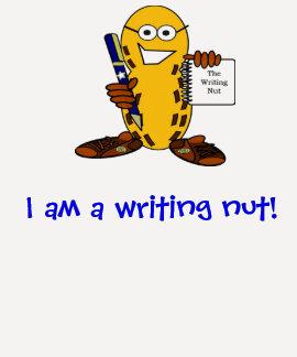 ¡Soy una nuez de la escritura! camisa del raglán