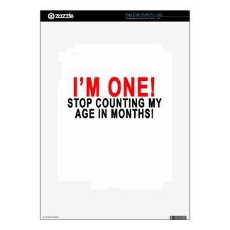 ¡Soy UNA PARADA QUE CUENTA MI EDAD EN MESES! .png Skin Para El iPad 2