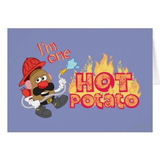 Soy una patata caliente tarjeta de felicitación