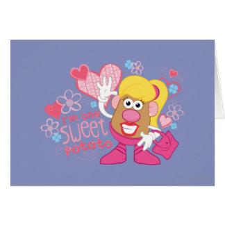 Soy una patata dulce tarjeta de felicitación
