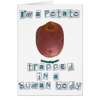 Soy una patata tarjeta de felicitación