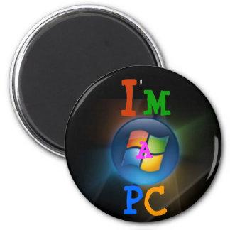 Soy una PC Imán Redondo 5 Cm