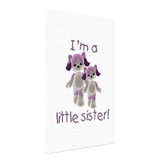 Soy una pequeña hermana los perritos púrpuras lienzo envuelto para galerias