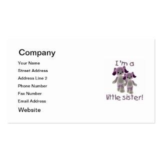 Soy una pequeña hermana (los perritos púrpuras) tarjetas de visita