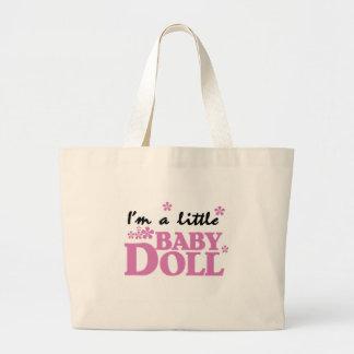 Soy una pequeña muñeca bolsa tela grande