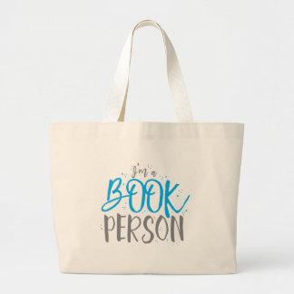 Soy una persona del libro bolsa de tela grande